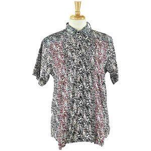 Detache Button Down Shirt SM Black